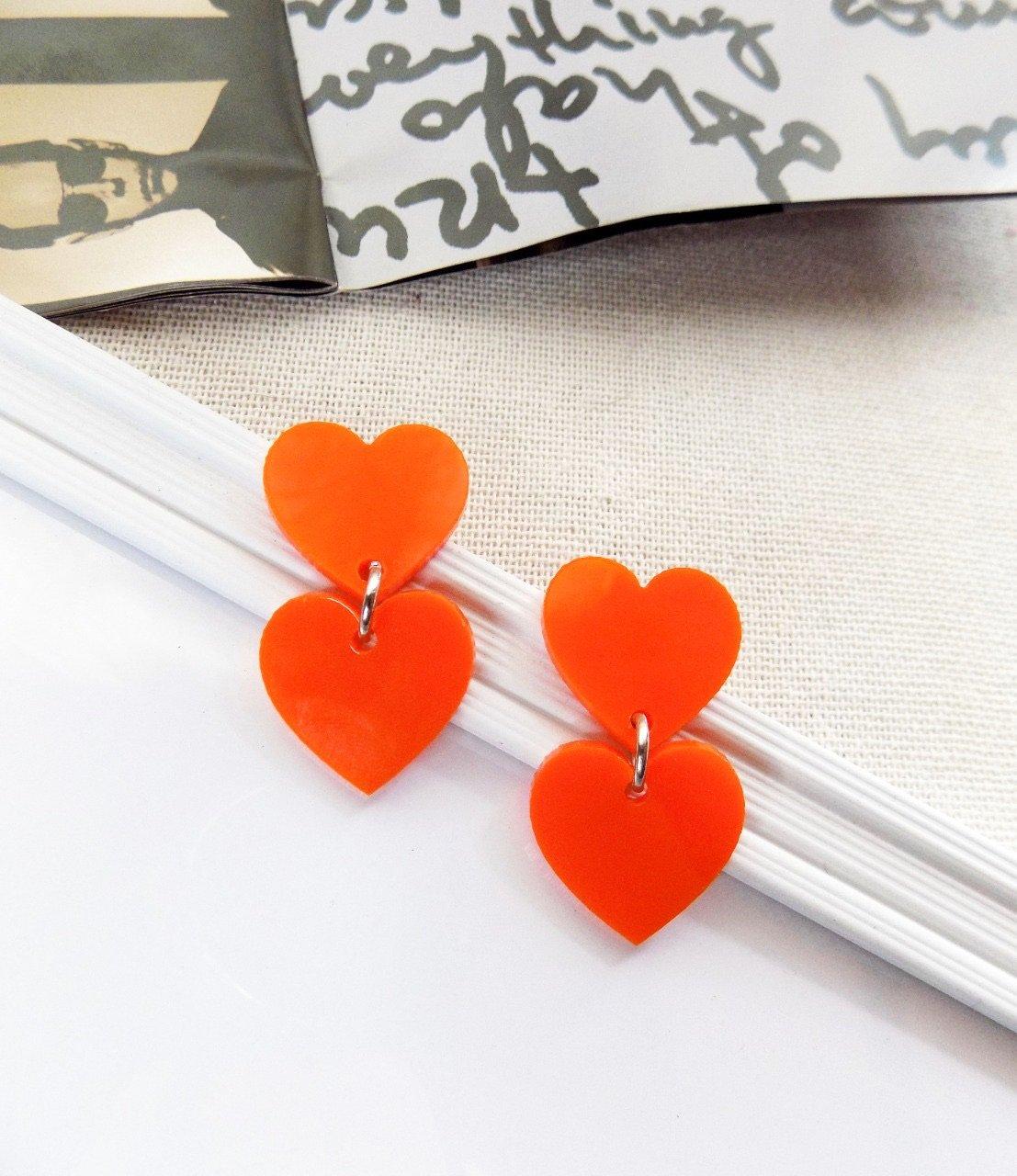 Doble Corazón Naranja