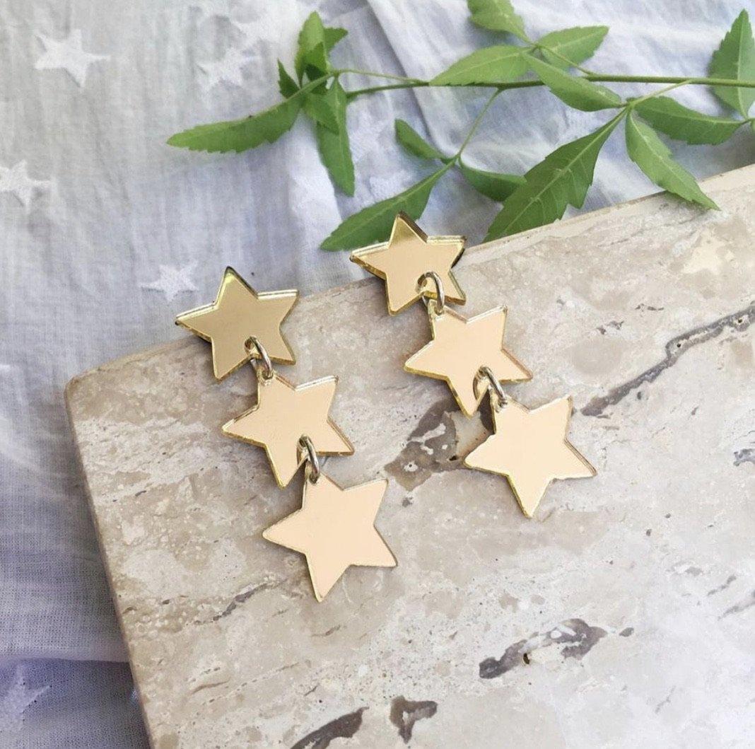 Aro Triple Estrella Dorada